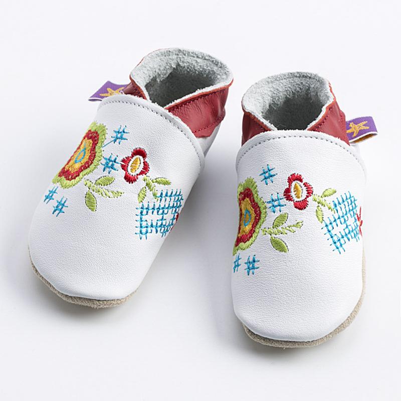 英国原产Starchild牛皮童鞋婴幼儿学步鞋软底鞋  蔷薇 白色 S