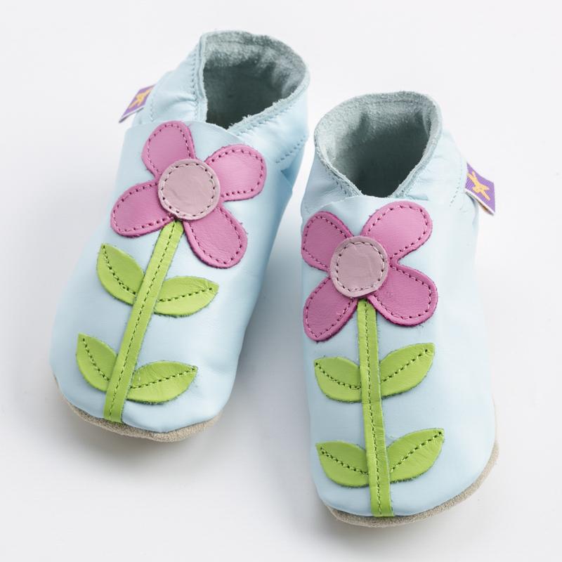 英国原产Starchild牛皮童鞋婴幼儿学步鞋软底鞋 卡米亚  嫩蓝 M