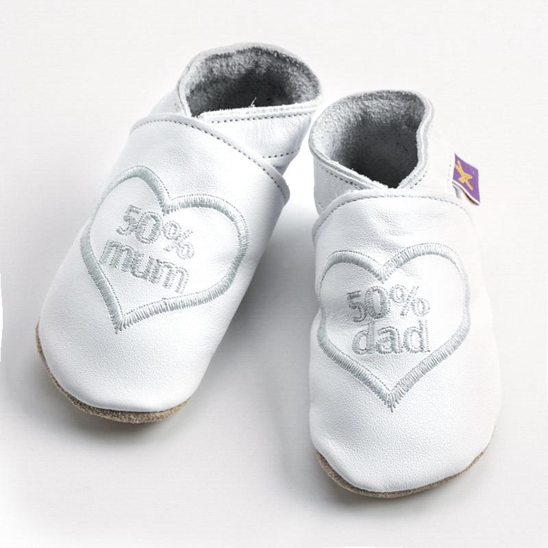 英国原产Starchild牛皮童鞋婴幼儿学步鞋软底鞋 mum&dad  白色 XL