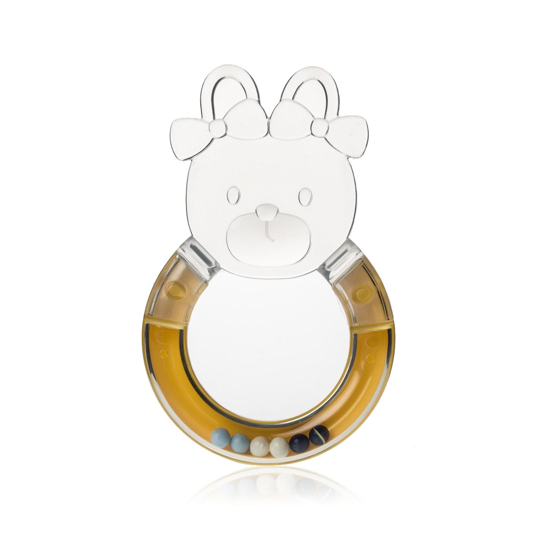 韩国原产i-Nounou发声咬牙棒婴儿咬牙棒宝宝咬牙棒磨牙棒 黄色