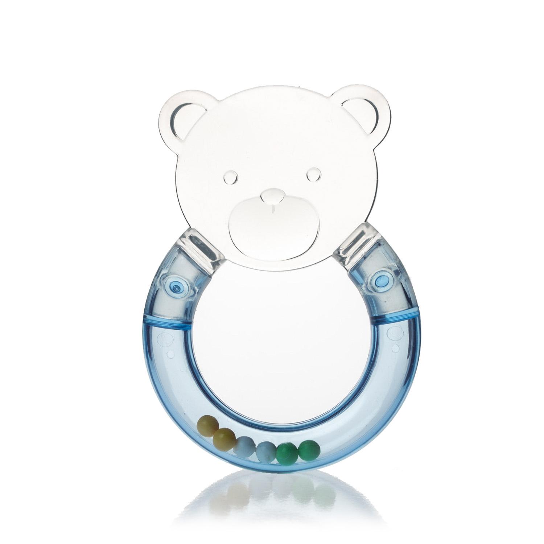韩国原产i-Nounou发声咬牙棒婴儿咬牙棒宝宝咬牙棒磨牙棒 浅蓝