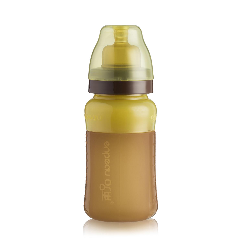 韩国enpeau纳米银硅胶奶瓶 浅棕色 7-10个月