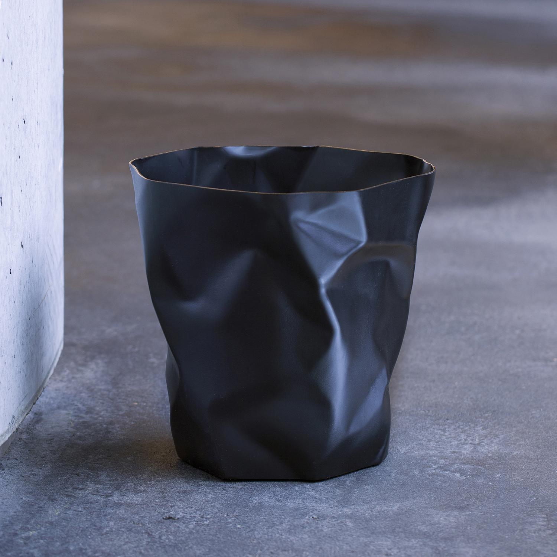 丹麦原产essey Bin Bin 创意褶皱废纸篓垃圾桶垃圾篓 大号 黑色