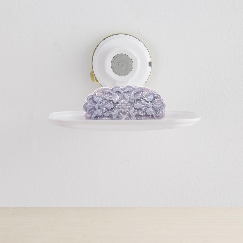 韩国原产Glaster强力无痕吸盘肥皂盒沥水盒肥皂架(1.5KG)