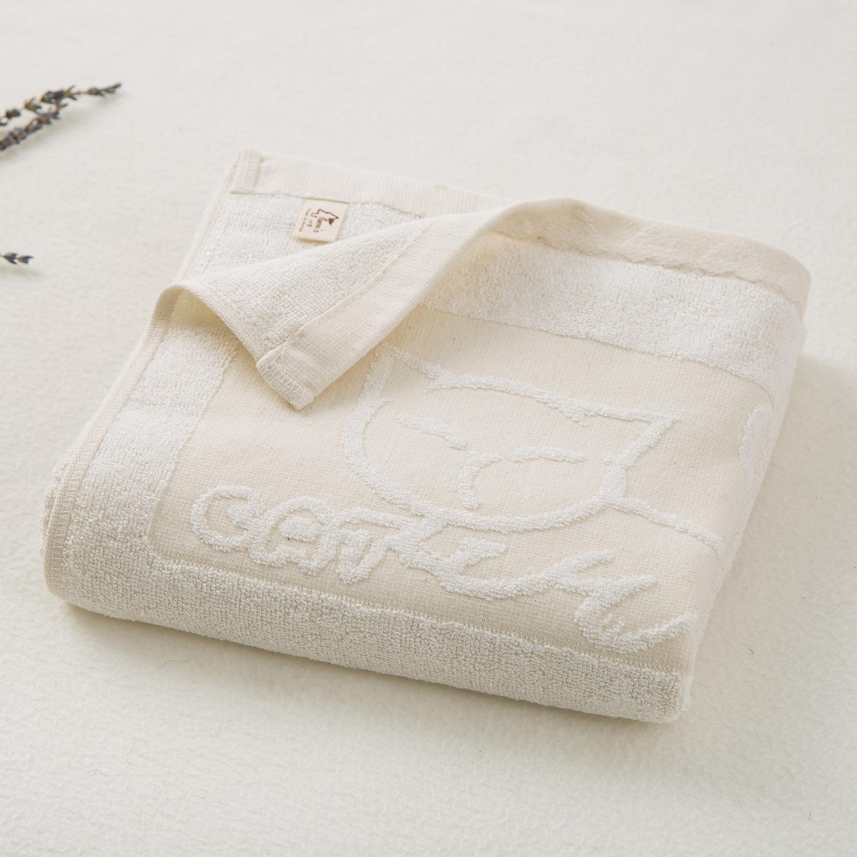 韩国原产namo's木质纤维方浴巾毛巾猫咪