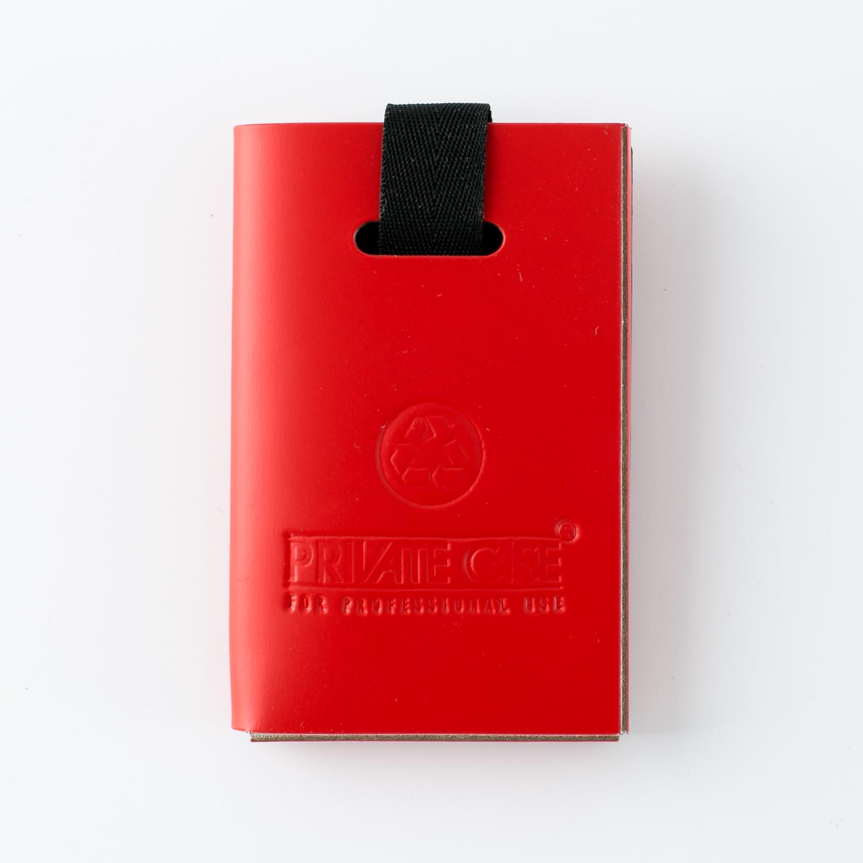 芬兰原产PRIVATE CASE 再生皮简约名片夹名片盒卡片包 红色