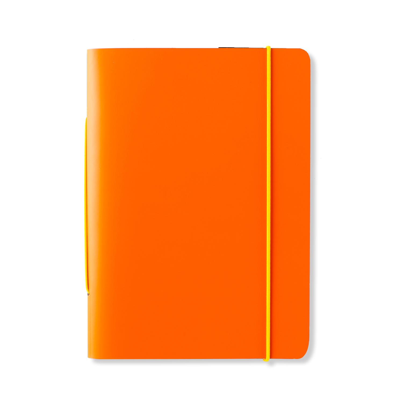 芬兰原产PRIVATE CASE 橡皮筋笔记本记事本可更换纸芯 橙色