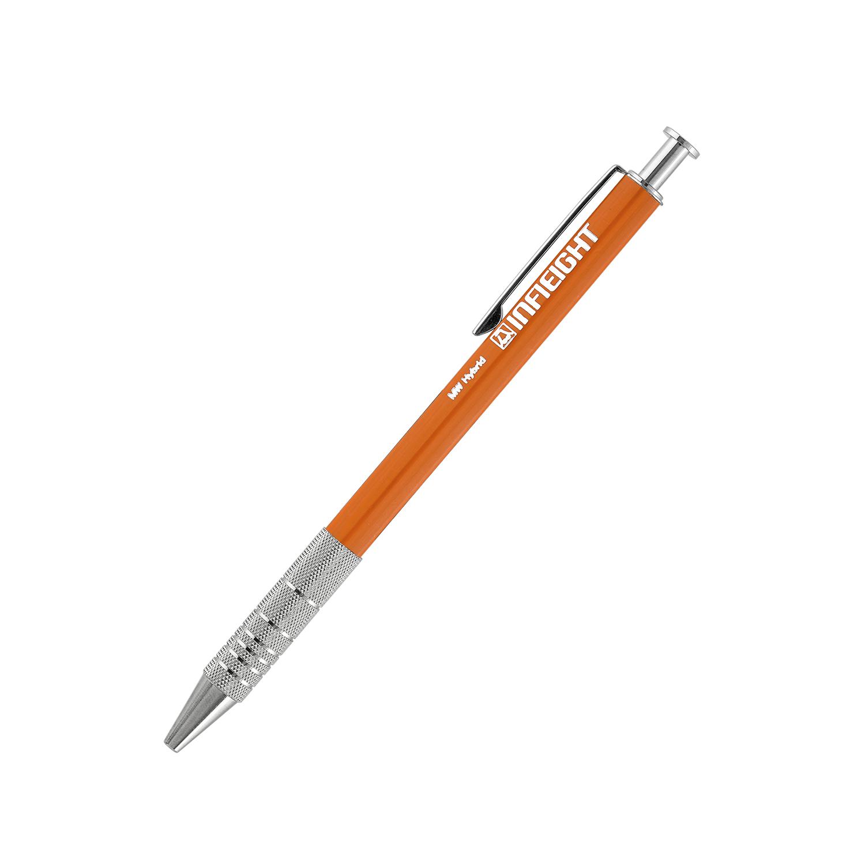 日本原产INFIEIGHT创意金属拉花木质圆珠笔中性笔短款 橙色
