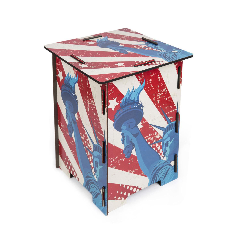 德国原产Werkhaus木质创意DIY组装凳子椅子板凳-自由女神 花色