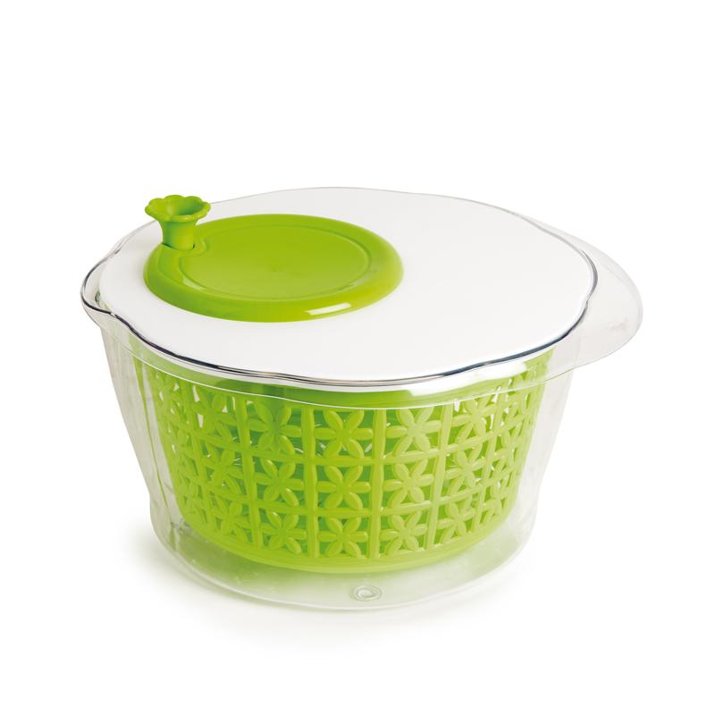 意大利原产snips 蔬菜清洗甩干桶手动洗菜器果蔬清洗机 绿色