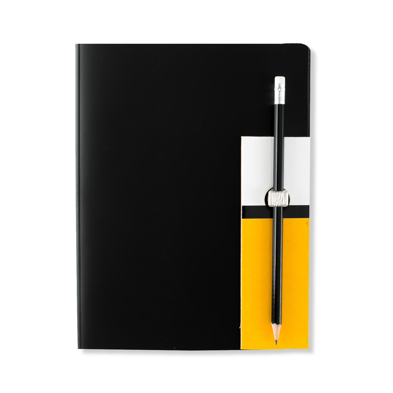 芬兰原产PRIVATE CASE 超薄笔记本记事本文具可更换纸芯 黑色 大款