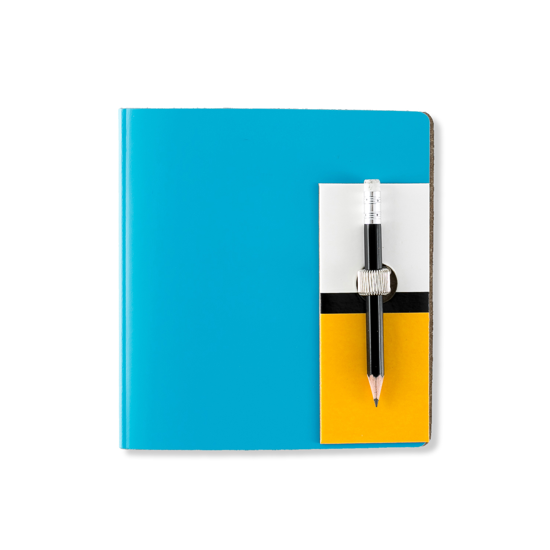 芬兰原产PRIVATE CASE 超薄笔记本记事本文具可更换纸芯 蓝色 小款