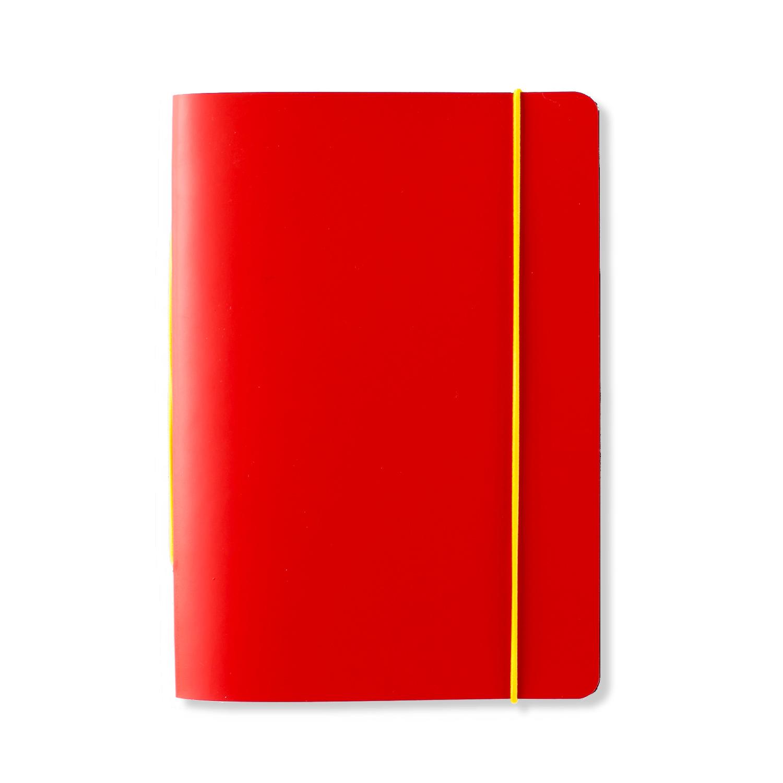 芬兰原产PRIVATE CASE 橡皮筋笔记本记事本可更换纸芯 红色