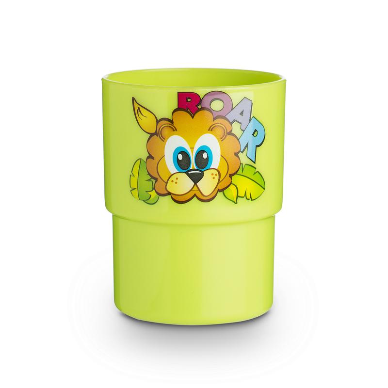 意大利原产Cosmoplast食品级塑料儿童卡通水杯 绿色