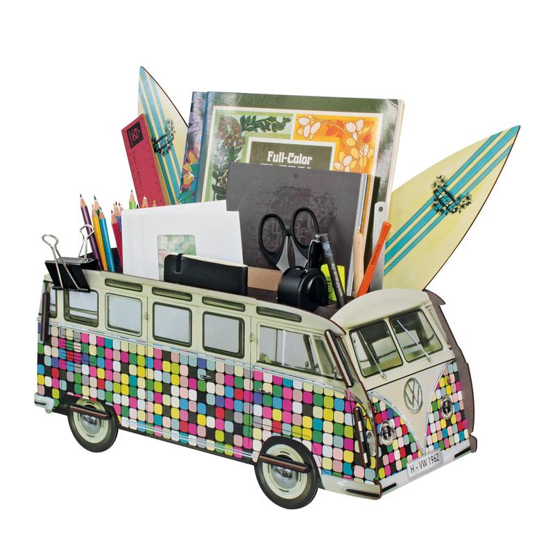德国原产Werkhaus大众经典面包车创意木质收纳盒整理盒 彩色像素