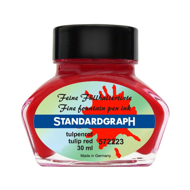 德国原产STANDARDGRAPH 书写专用墨水签字笔钢笔水笔专用 郁金香红