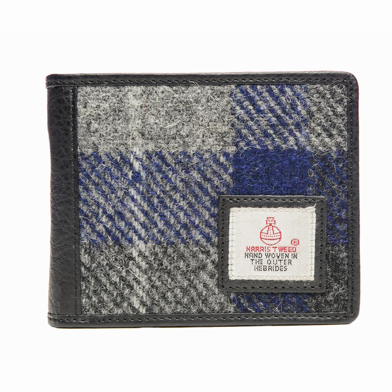 英国原产MACCESSORI 哈里斯彩呢格子折叠钱包复古卡包 蓝色
