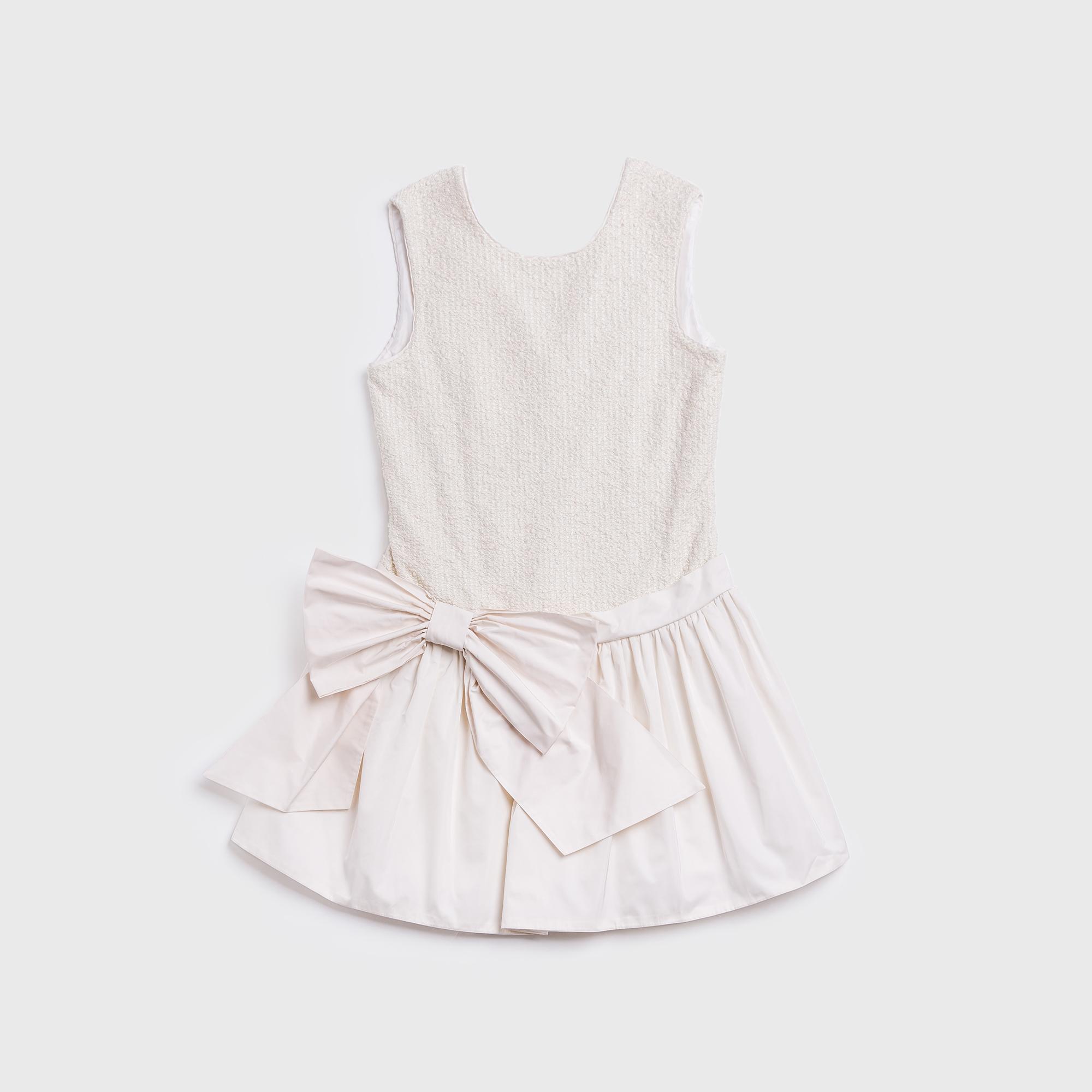 意大利原产 ValMax  公主风 百褶连衣裙 白色 L-8岁