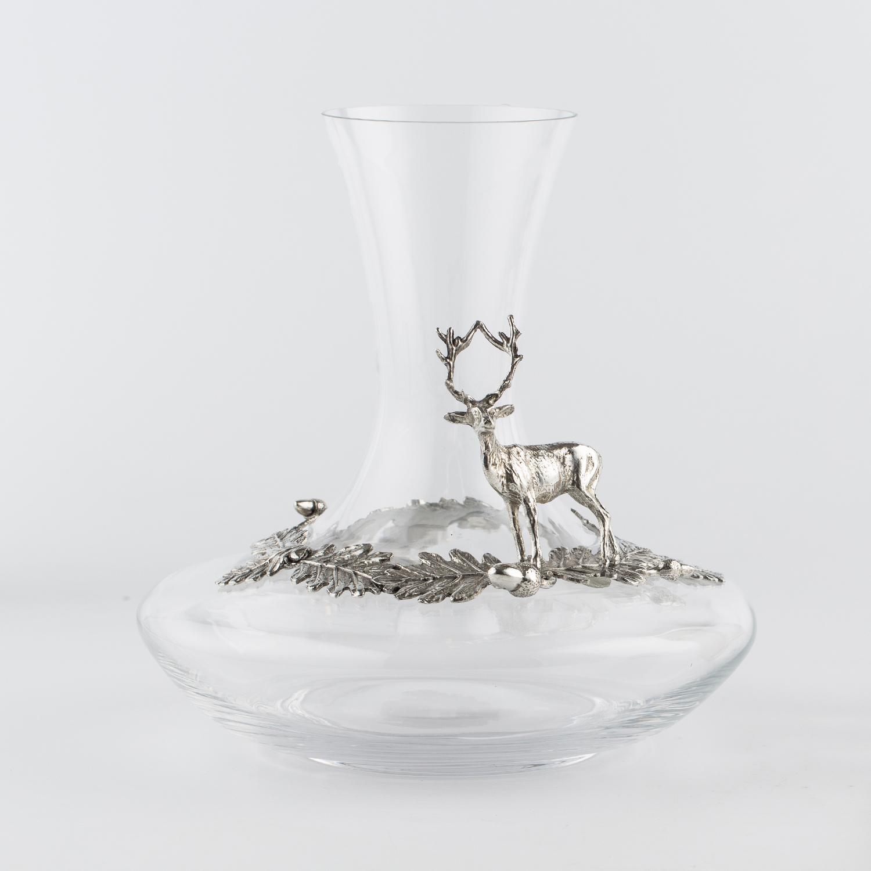 奥地利原产ARTINA-Hisch 锡制玻璃醒酒器工艺品 白色