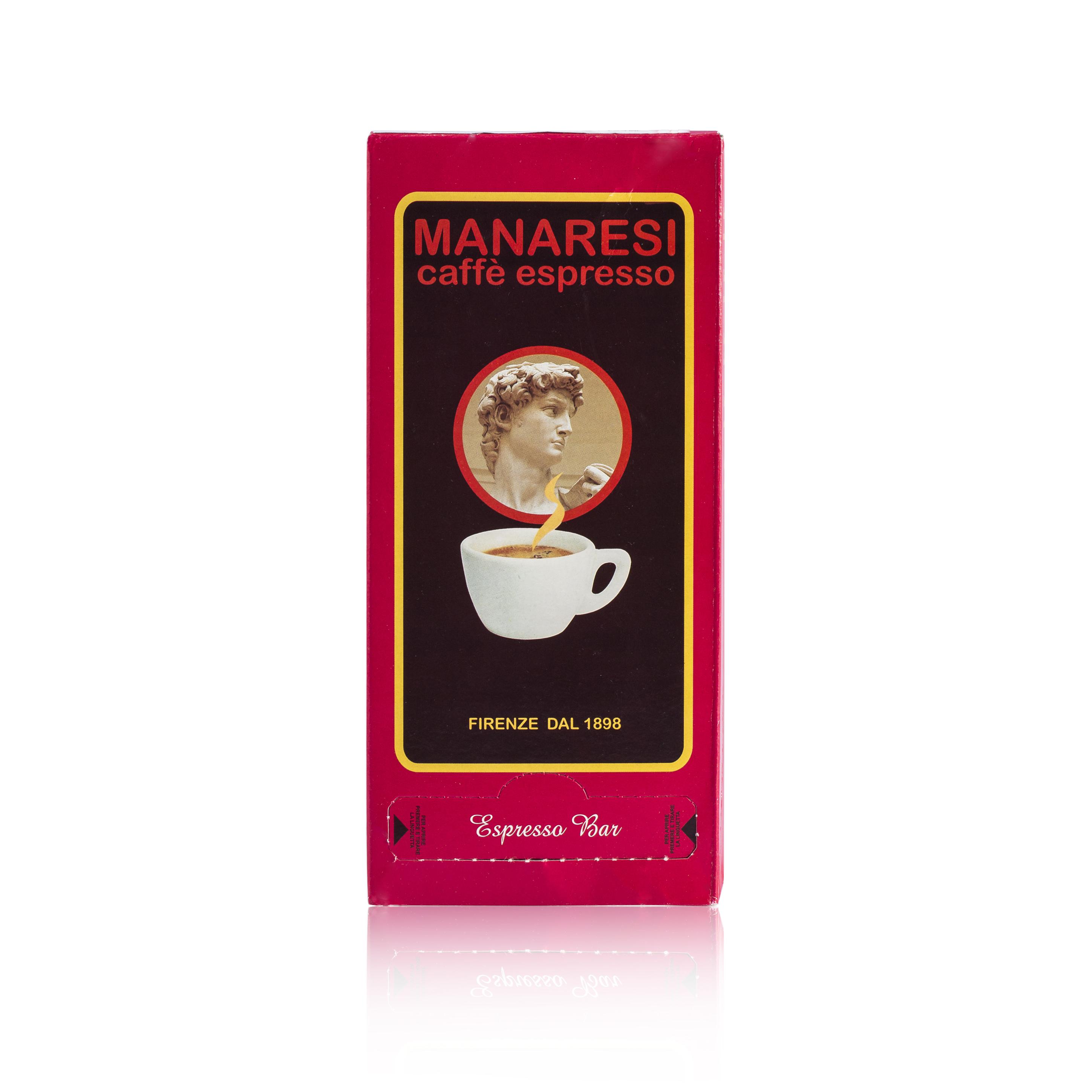 意大利原产Manaresi曼那瑞斯浓缩咖啡粉易理包125g 红色