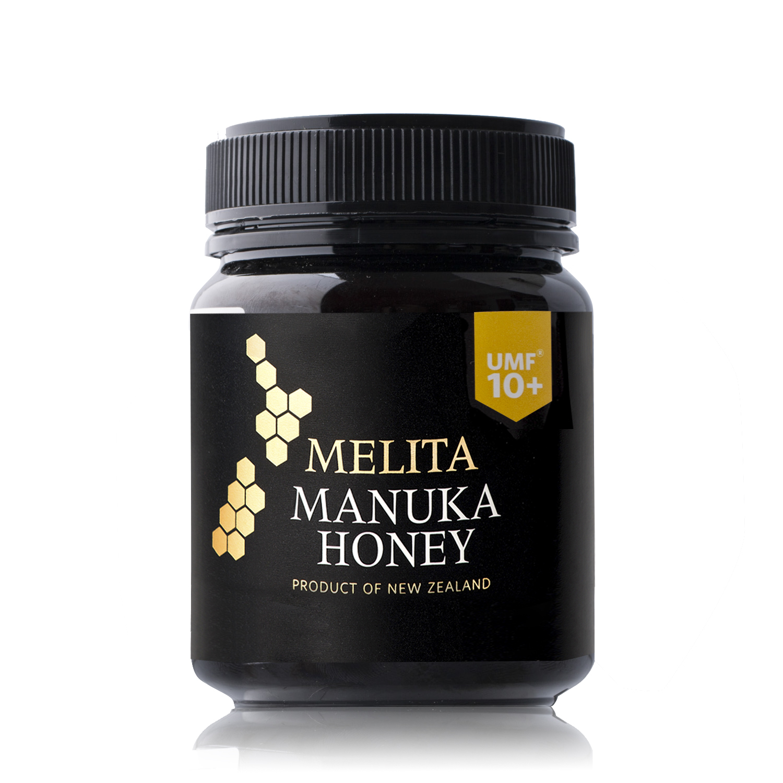 新西兰原产MELITA麦利卡麦卢卡蜂蜜养胃养颜UMF10+ 340g 黑色