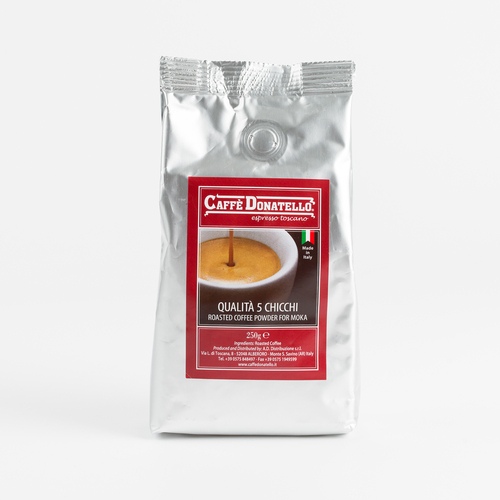 意大利原产CAFFE DONATELLO 多纳泰罗摩卡咖啡粉250g 银色