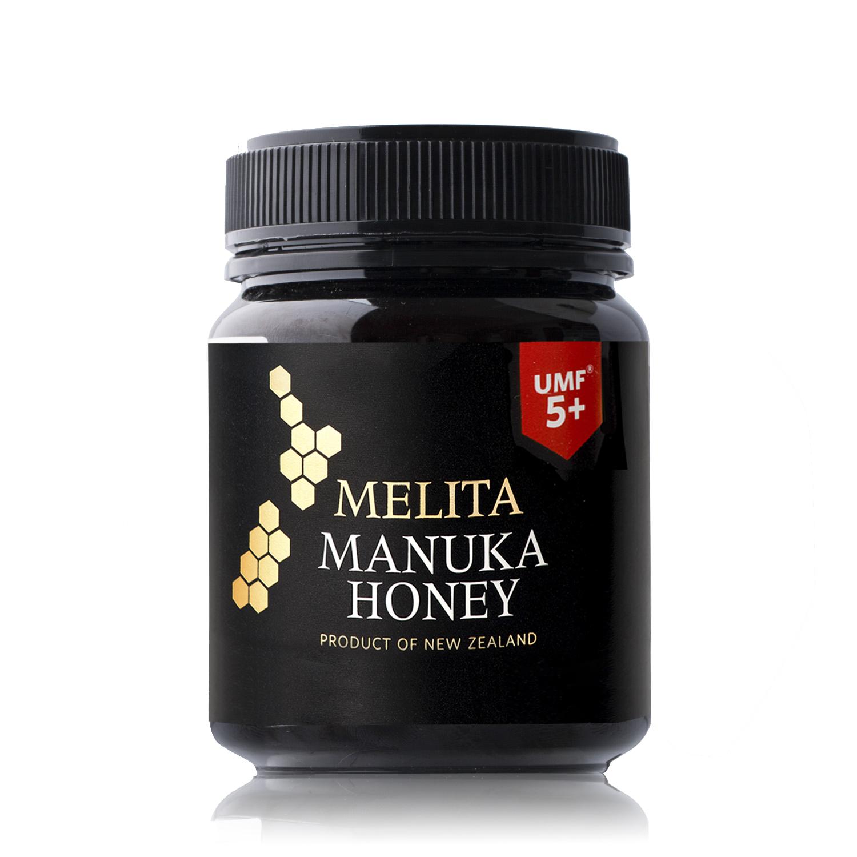 新西兰原产MELITA麦利卡麦卢卡蜂蜜养胃养颜UMF5+ 340g 黑色