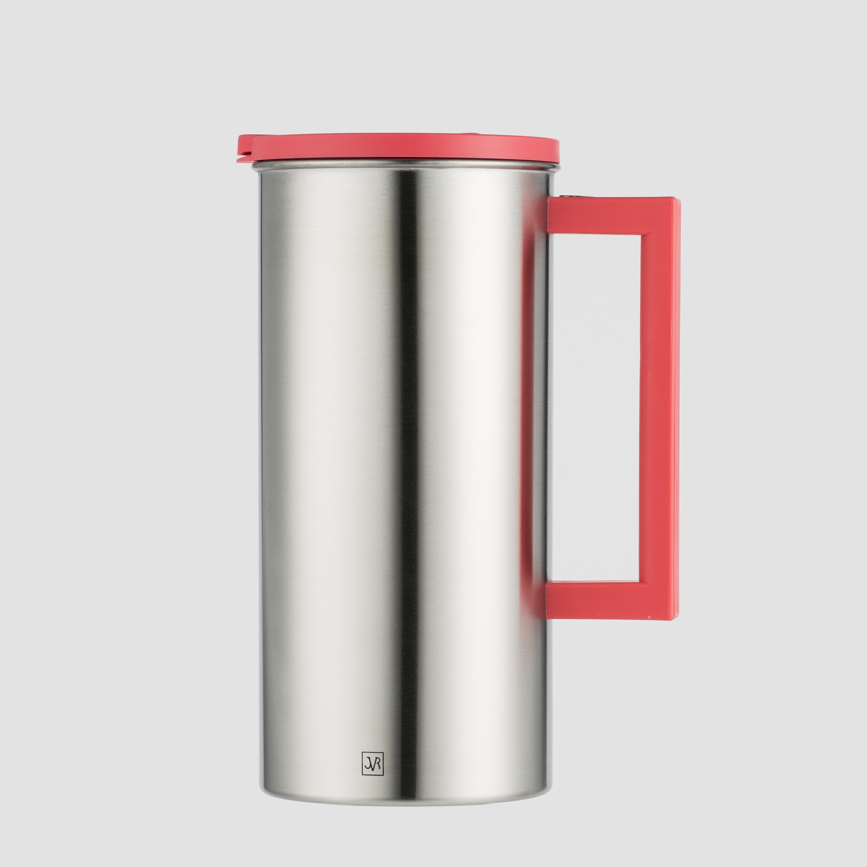 韩国原产JVR不锈钢水壶保温壶茶壶1.6L 橘红色