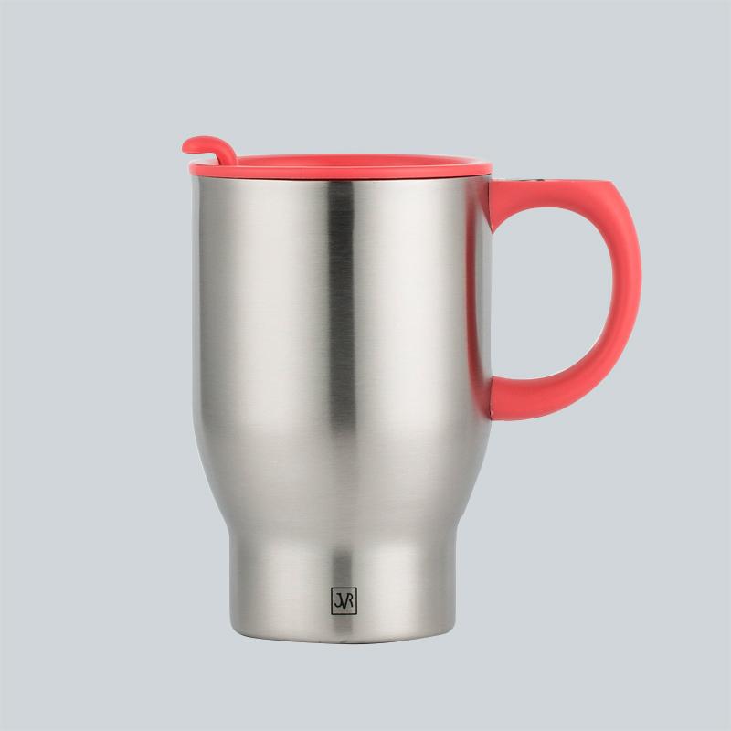 韩国原产JVR不锈钢水杯茶杯马克杯390ml 橘色