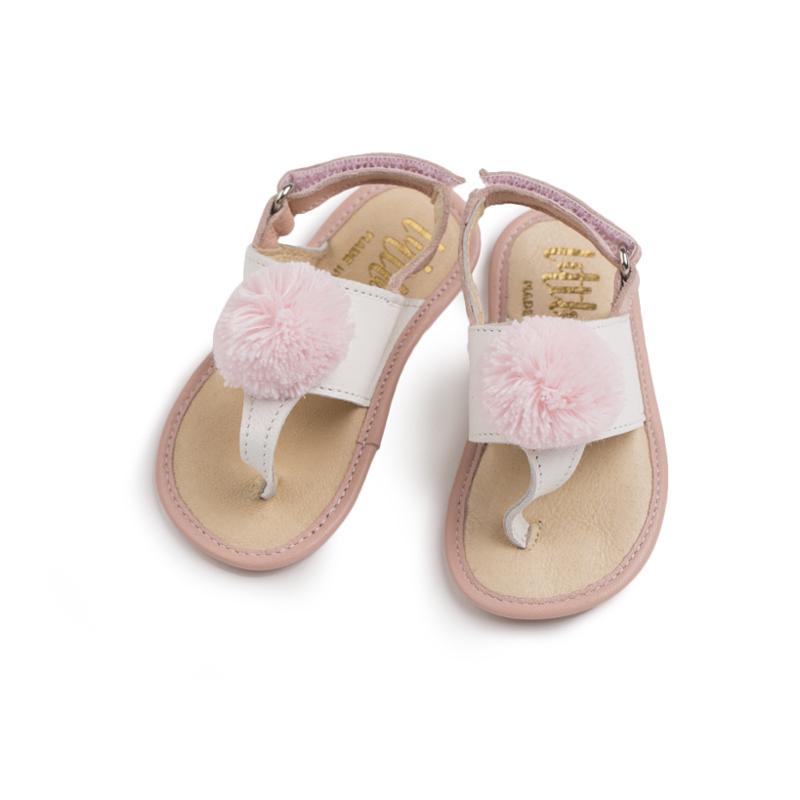 英国原产little lulus索菲娅纳帕皮革婴幼儿凉鞋宝宝凉鞋 粉色 0-6m