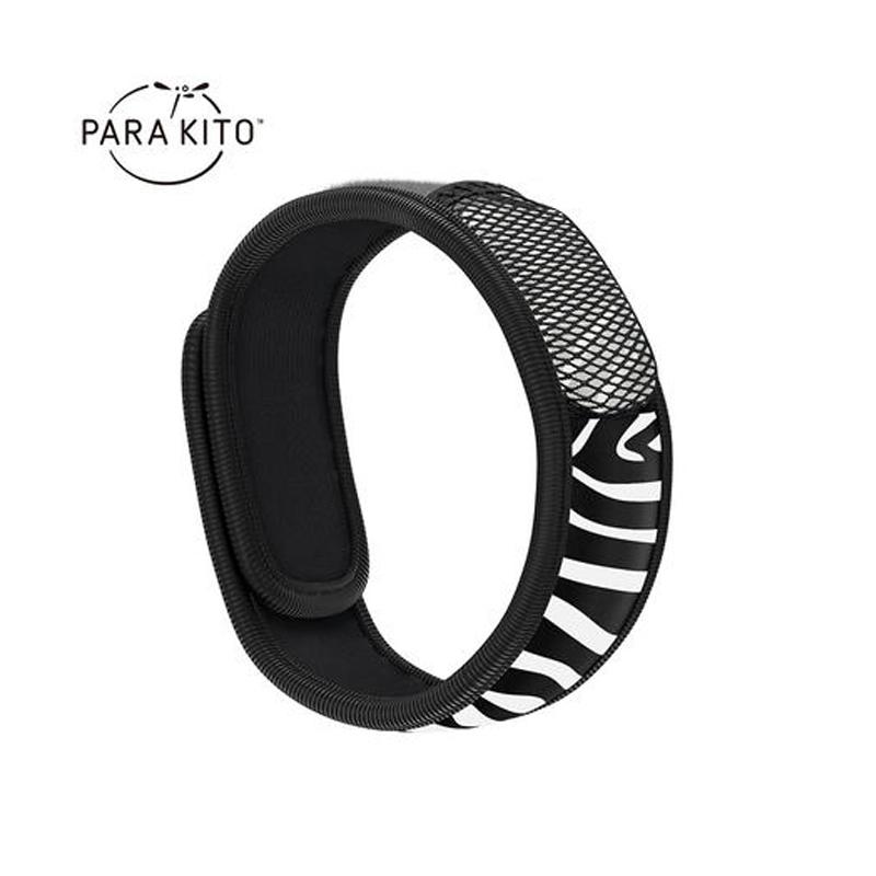 法国Para'Kito帕洛驱蚊手环1手环+2香片成人款 黑色条纹 L