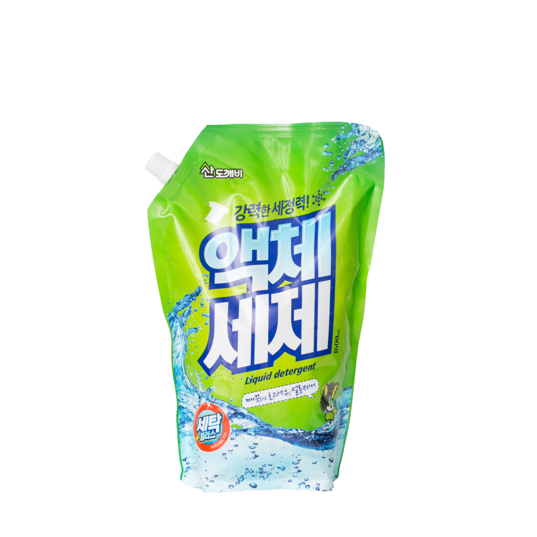 韩国Sandokkaebi洗衣液手洗机洗洗涤剂补充装 绿色