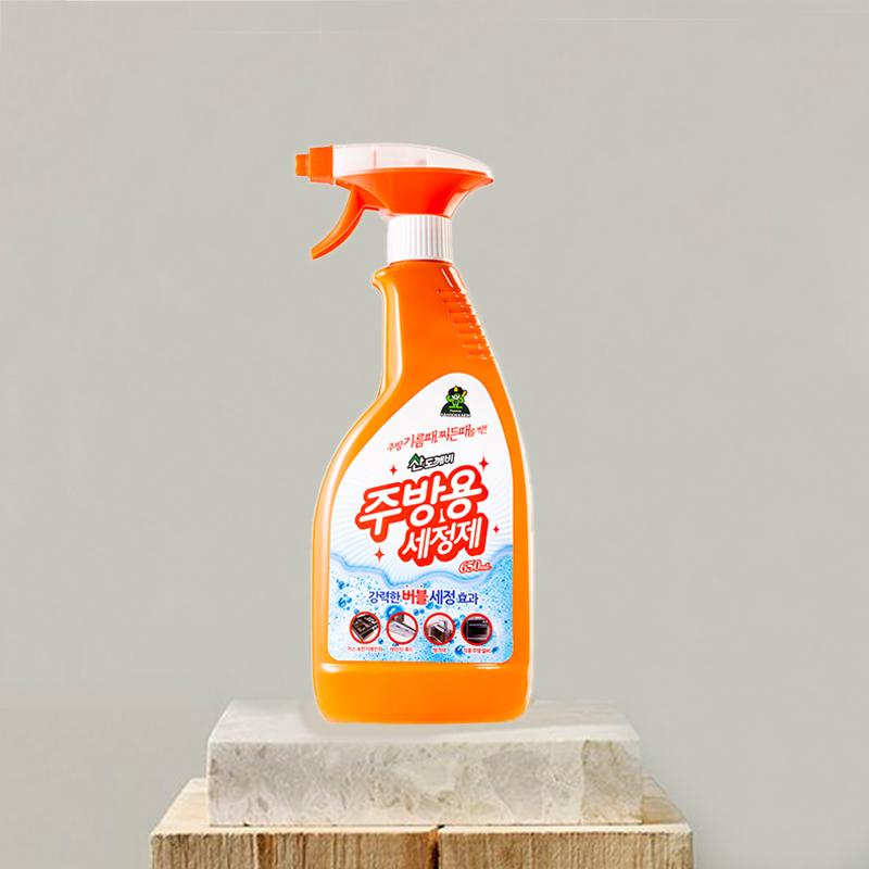 韩国原产Sandokkaebi山小怪厨房清洁剂除污剂 红色 S