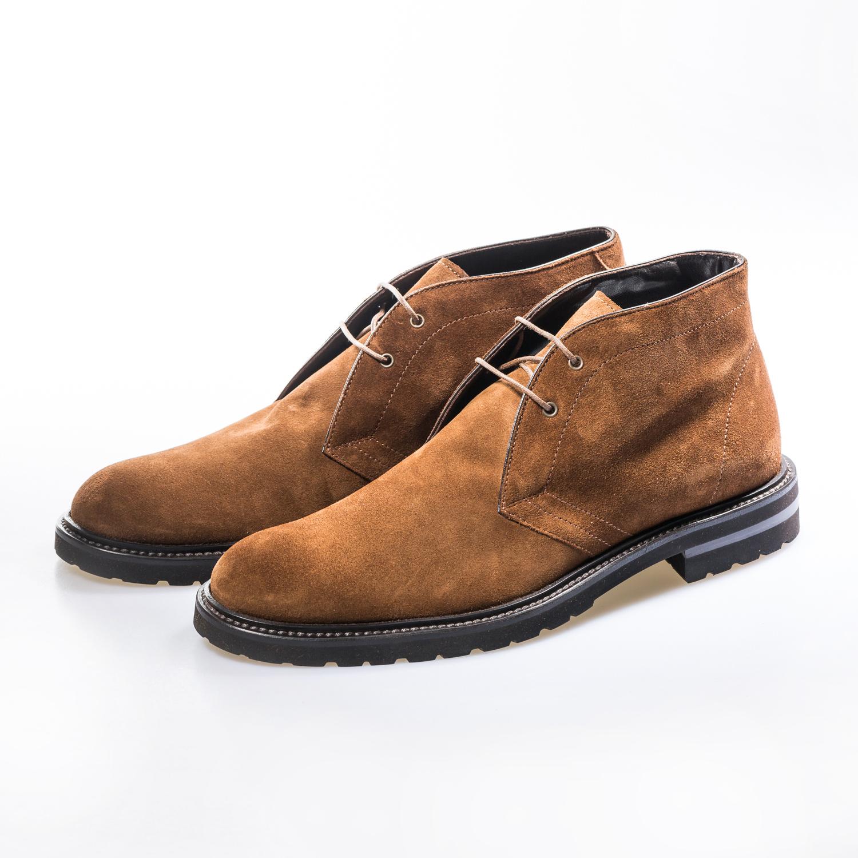 意大利原产germano bellesi系带男鞋翻毛皮短靴男鞋 棕色 40