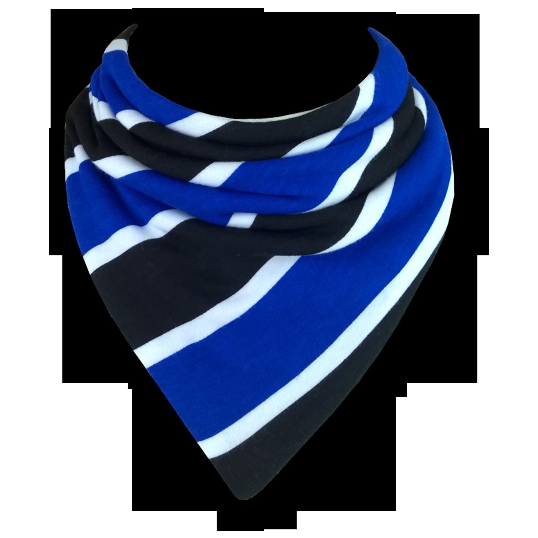 英国原产Babble Kids校服领带口水巾婴儿围兜围巾口水巾 蓝色