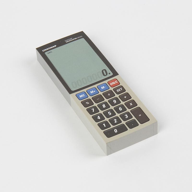 韩国原产Chachap 计算器形 创意便利贴 白色