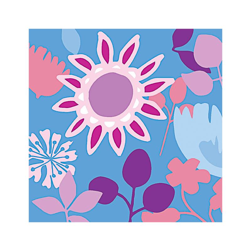 英国原产IONA奇异花水墨画图案商务祝福贺卡明信片-1 彩色