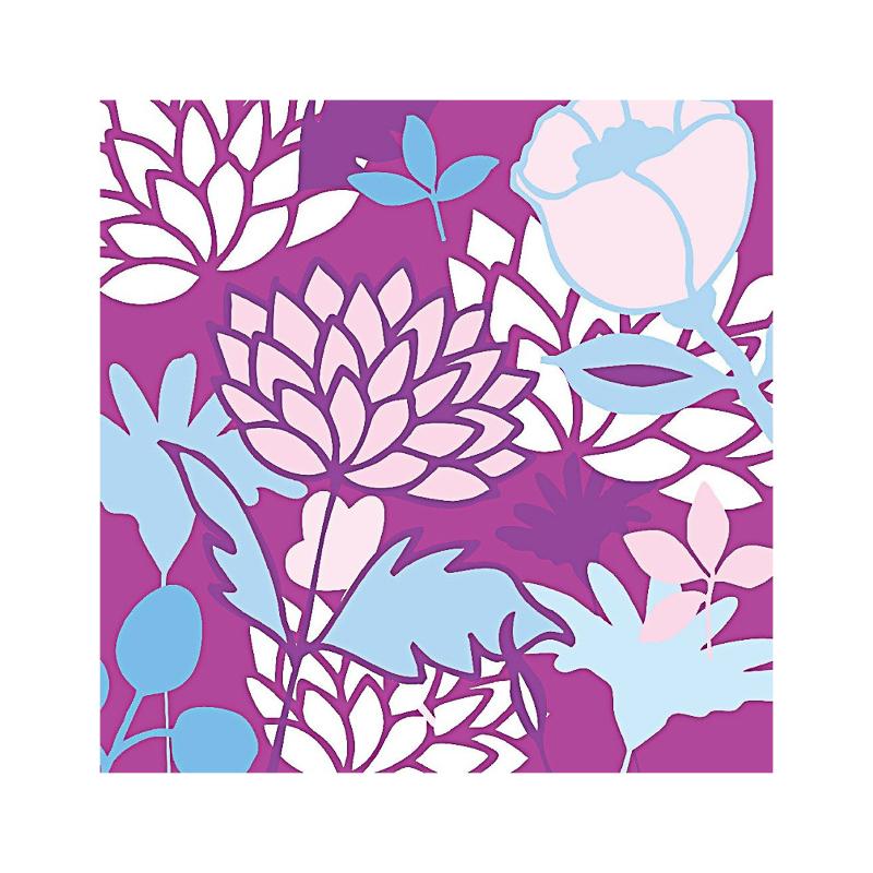 英国原产IONA奇异花水墨画图案商务祝福贺卡明信片-4 彩色