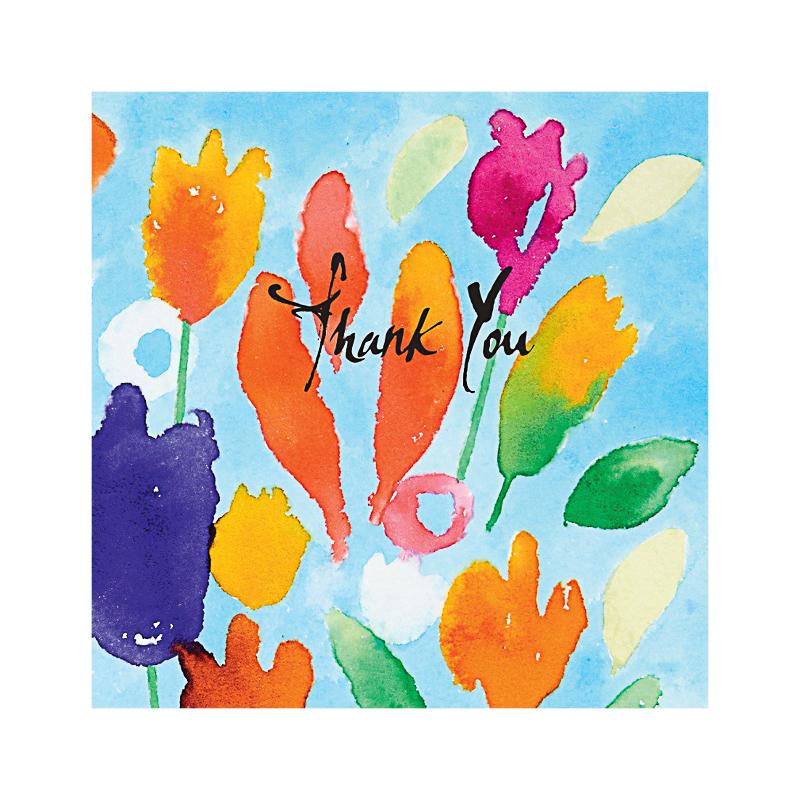 英国原产IONA水印花水墨画图商务祝福贺卡明信片-3 彩色