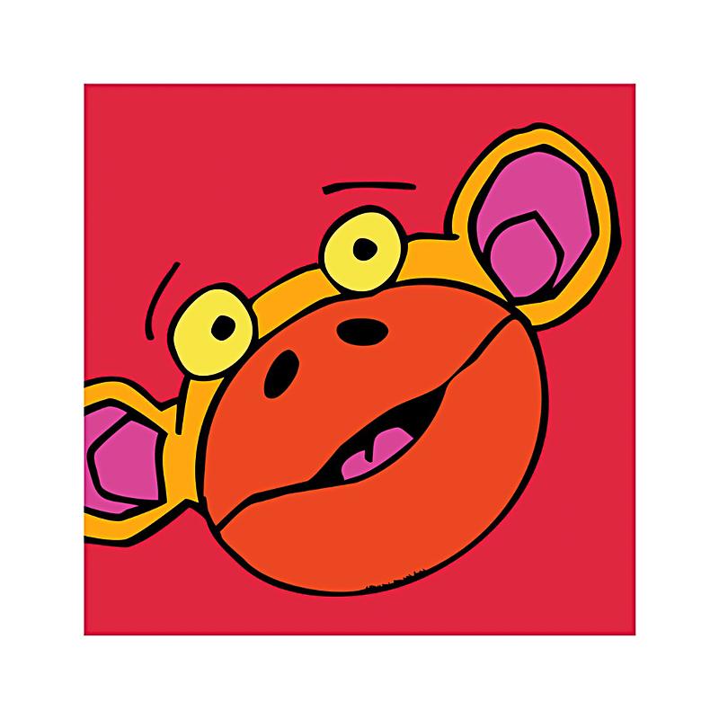 英国原产IONA饥饿的猴子卡通图案商务祝福贺卡明信片 紫红