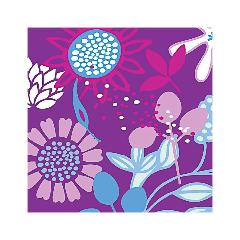 英国原产IONA奇异花水墨画图案商务祝福贺卡明信片-3 彩色
