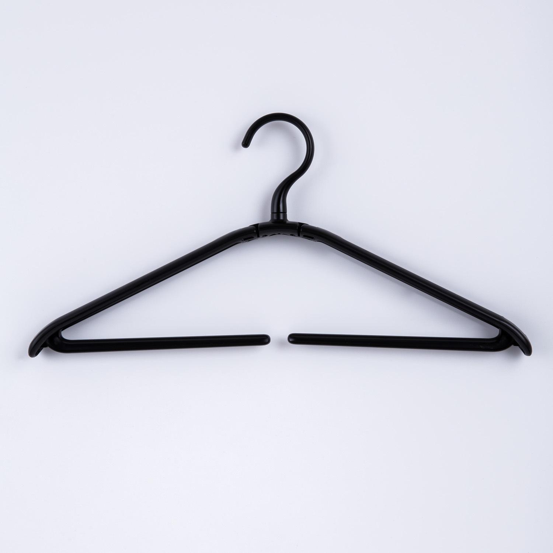 日本原产SHINKO可折叠晾衣架挂衣架衣撑 黑色