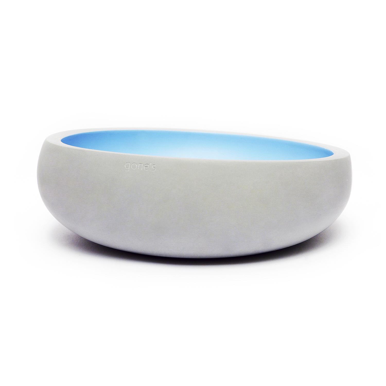 法国原产gone's 矿物大号装饰烛台摆件 1个装 天蓝