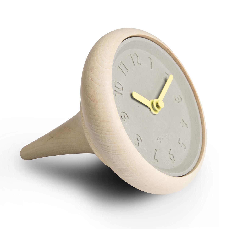 法国原产gone's 枫木矿物创意装饰书桌钟座钟1个装 黄色