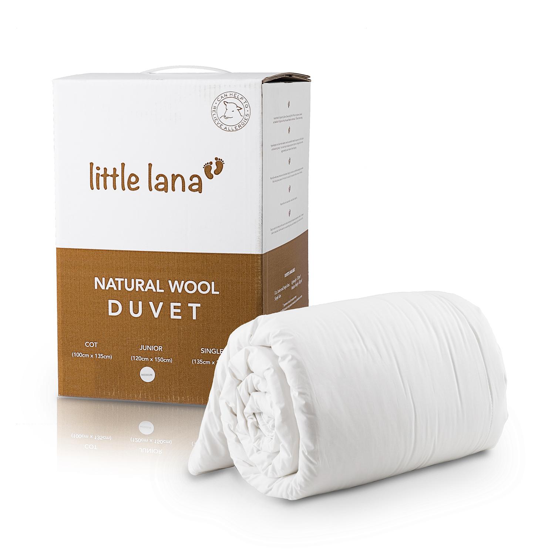 英国原产DEVON DUVETS婴儿羊毛被儿童被子被芯(轻便款)300gsm 白色 100x135cm