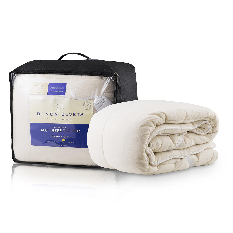 英国原产DEVON DUVETS羊毛床垫 白色 双人床(150CM X 200CM)