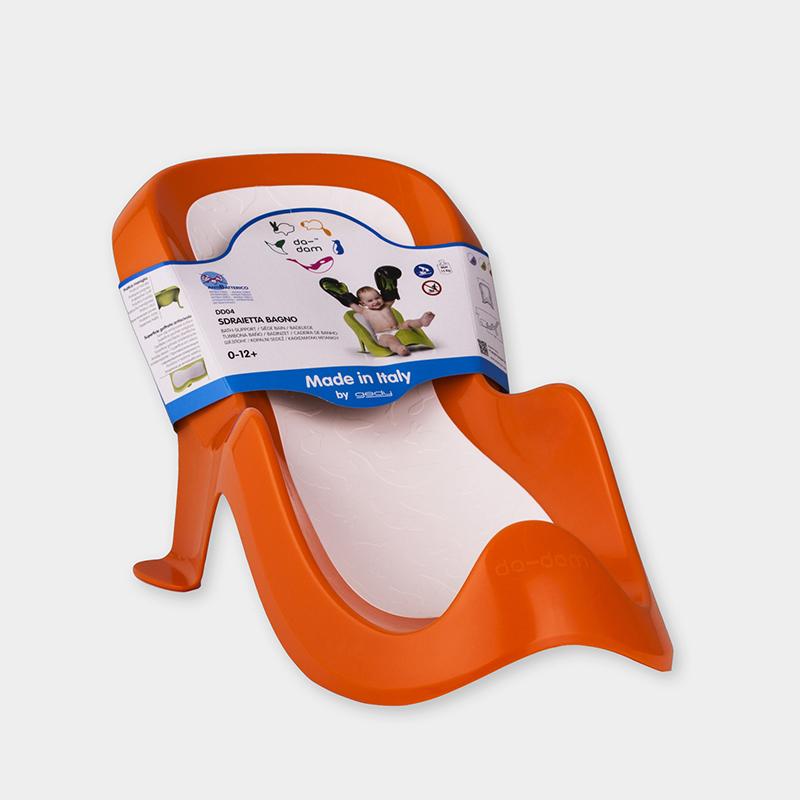 意大利原产da-dam 婴儿浴室座椅洗发躺椅1-12个月 橙色