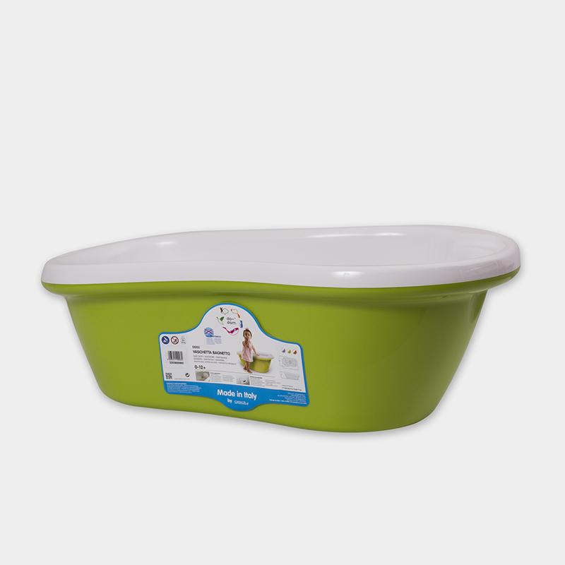 意大利原产da-dam 可排水婴儿浴盆宝宝洗澡盆 1-12个月 绿色