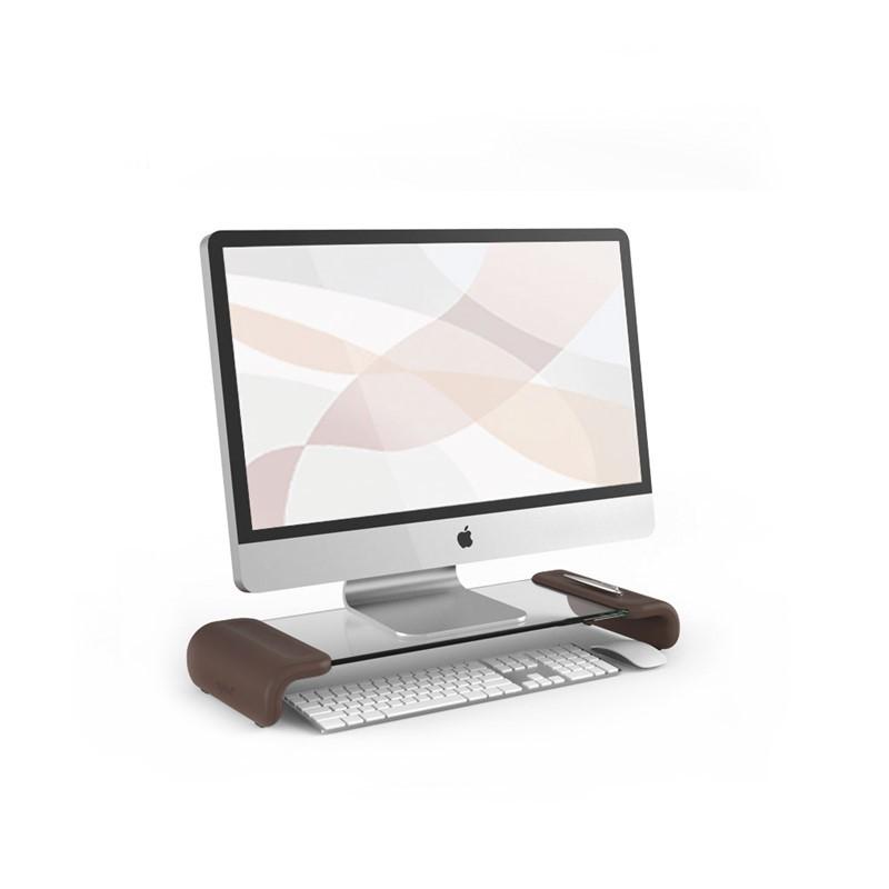 韩国原产aplum 时尚透明电脑置物桌置物架办公置物架 灰色