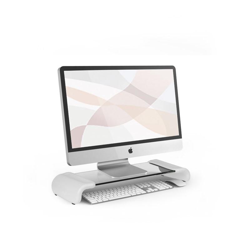 韩国原产aplum 时尚透明电脑置物桌置物柜收纳桌 白色